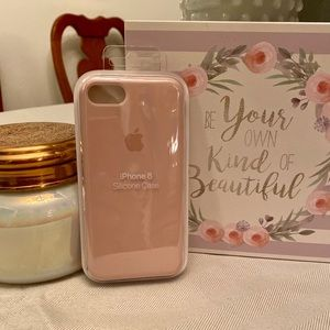 NWT IPhone 8 Silicone Case Pink Sand